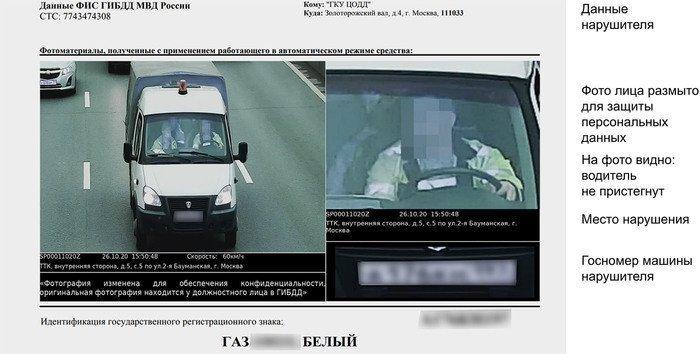Если штраф занепристегнутый ремень приходит скамеры, впостановлении будет фото нарушения. Лицо водителя нанем невидно, ноуГИБДД хранится оригинальное фото наслучай обжалования штрафа