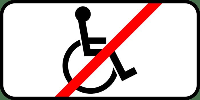 Под знаком запрета остановки может быть закреплена эта табличка— под ней можно останавливаться инвалидам итем, кто ихперевозит